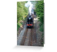 steam special to boulby mine Greeting Card