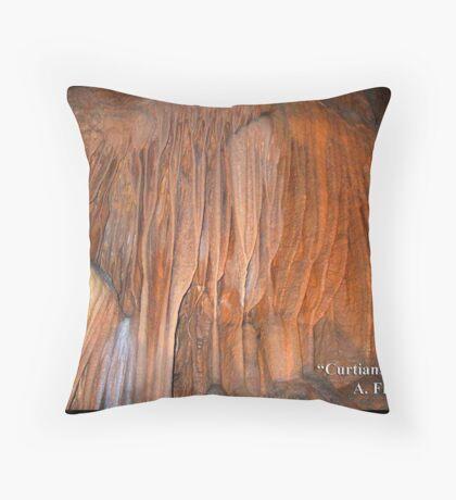 Curtians II Throw Pillow