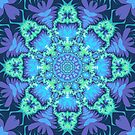 Aqua stars and Purple patterns by walstraasart