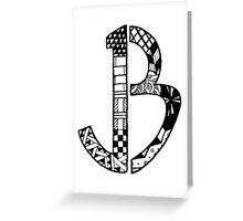 JB Logo Greeting Card