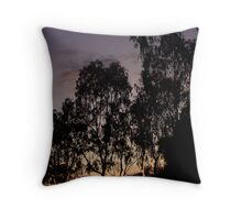 eucalypt silhouette Throw Pillow
