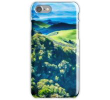 Green Rolling Hills to the Sea iPhone Case/Skin