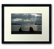 sunshine on the beach Framed Print