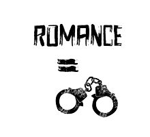 Romance = Handcuffs Photographic Print