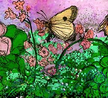 Etching pixel garden by Dawnfire