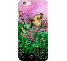 Etching pixel garden iPhone Case/Skin