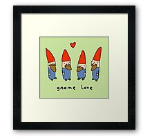 Gnome Love Framed Print