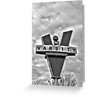 varsity black and white Greeting Card