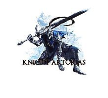 Artorias out of the abyss! - Knight Artorias Text Photographic Print