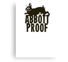Abbott Proof Canvas Print