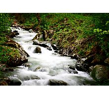 Running stream in the alps.  Photographic Print