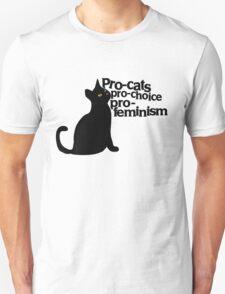 Pro-cats Pro-choice Pro-feminism Unisex T-Shirt