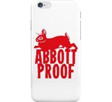Abbott Proof Red iPhone Case/Skin
