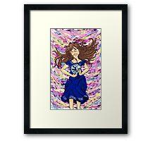 World of color w/ ribbon Framed Print