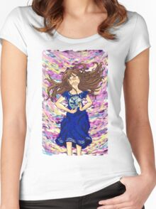 World of color w/ ribbon Women's Fitted Scoop T-Shirt