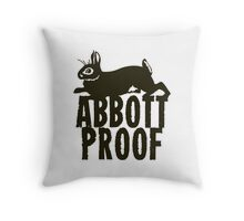 Abbott Proof Throw Pillow
