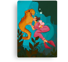 A Girl and her Eel Canvas Print