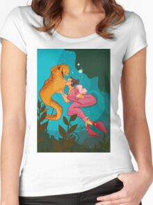 A Girl and her Eel Women's Fitted Scoop T-Shirt