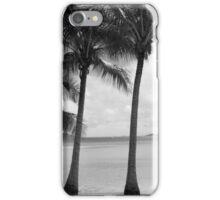 Palm Trees - B&W  iPhone Case/Skin