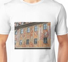 Murals on Wall of Altes Rathaus, Bamberg, Germany Unisex T-Shirt