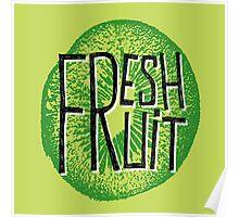 Kiwi fresh fruit illustration  Poster