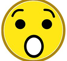 Shocked Yellow Smiley Face by NetoboDesigns