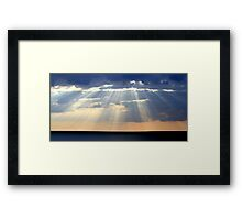 breaking through......... Framed Print