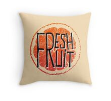 Orange fresh fruit illustration Throw Pillow