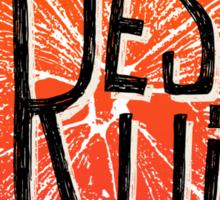 Orange fresh fruit illustration Sticker