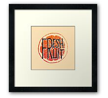 Orange fresh fruit illustration Framed Print