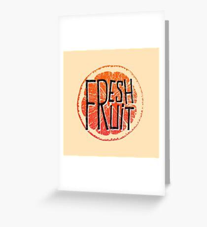 Orange fresh fruit illustration Greeting Card