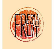 Orange fresh fruit illustration Photographic Print