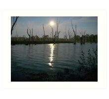 Moonlit Waters Art Print
