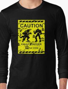Kaiju / Jaeger Battle Zone Long Sleeve T-Shirt