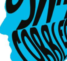 Oswald cobblepot silhouette Sticker