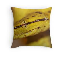 Green Tree Python - Hatchling Throw Pillow