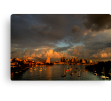 Silence Before The Storm - Moods of A City # 28 - Sydney Australia Canvas Print
