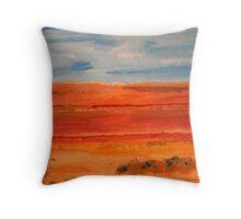 Across Red Desert Road Throw Pillow