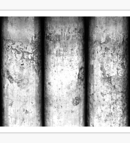 Brass Pillars (Black & White) Sticker