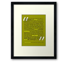 In Charge Framed Print