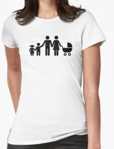 Family kids baby buggy Womens Fitted T-Shirt
