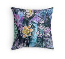 Midnight Garden Prelim Throw Pillow