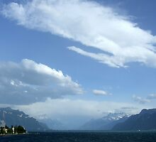 Lake Geneva From Vevey by John Douglas