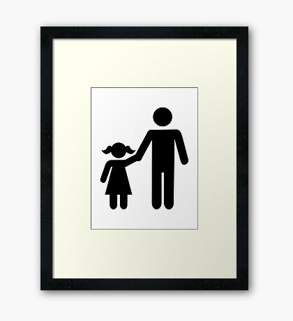 Father dad daughter girl Framed Print