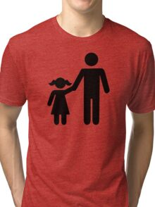 Father dad daughter girl Tri-blend T-Shirt