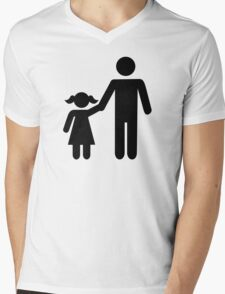 Father dad daughter girl Mens V-Neck T-Shirt