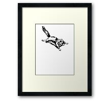 Flying Sugar Glider Framed Print