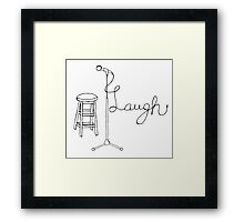 Stand Up Comedy Drawing. Framed Print