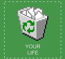 your life: recycle bin [vaporwave] by Crimetropolitan