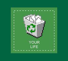 your life: recycle bin [vaporwave] Unisex T-Shirt